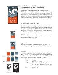 Visual Identity Standards Guide - Wilderness.net
