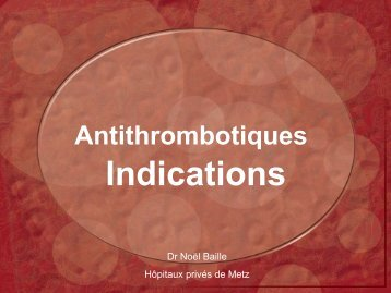 antithrombotiques indications - ammppu
