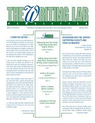 retreating into the Center - The Writing Lab Newsletter