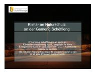 Klima- an Naturschutz an der Gemeng Schëffleng