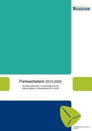 Parkeerbeleid 2013-2020 - Gemeente Bussum