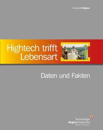 Daten und Fakten Flyer deutsch - TechnologieRegion Karlsruhe