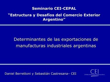 Resultados de las estimaciones - Centro de Economía Internacional