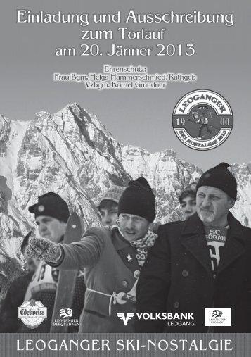 Offizielle Ausschreibung Ski Nostalgie Leogang 2013 - Saalfelden ...