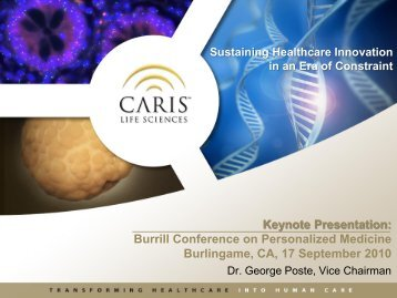 Sustaining Healthcare Innovation in an Era of Constraint - Caris Life ...