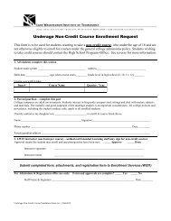 Underage Enrollment Form