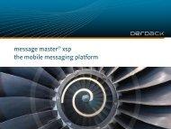 message master® xsp the mobile messaging platform