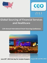 Global Sourcing of Financial Services and Healthcare - Center for ...