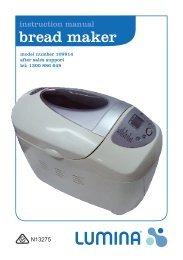bread maker - Tempo (Aust)
