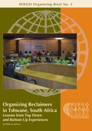 Organizing Reclaimers in Tshwane, South Africa: Lessons ... - WIEGO