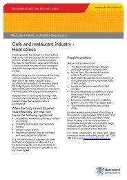 Café and restaurant industry heat stress information sheet