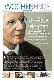 Comeback-Pläne für einen vergessenen Autor - Peter Rosegger 2013