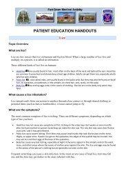 PATIENT EDUCATION HANDOUTS Lice