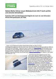 Nokian-Reifen fahren neuen Weltrekord mit 335,71 ... - Nokian Tyres