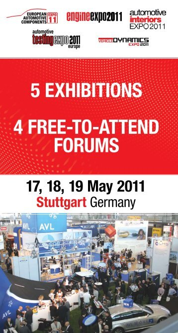 5 exhibitions 4 free-to-attend forums - Automotive Testing Expo