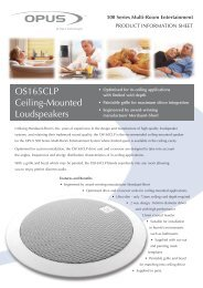 OS165CLP Ceiling-Mounted Loudspeakers - Focal Audio Systems ...