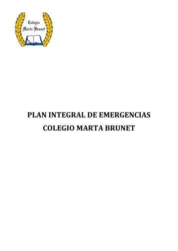 PLAN DE EMERGENCIA - Colegio Marta Brunet
