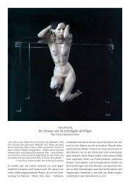 Die Schwere und die Leichtigkeit der Körper – Über ... - Galerie Rose