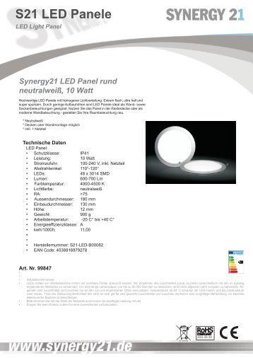 S21 LED Panele - Synergy21