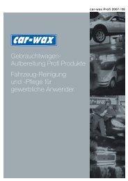 Gebrauchtwagen- Aufbereitung Profi Produkte ... - Technomag AG