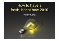 How to have a fresh, bright new 2010 by brother Henry