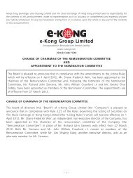 Change of Chairman of the Remuneration Committee and ...