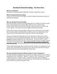 Standards-Based Grading – An Overview - Naperville Community ...