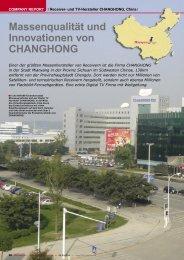 Massenqualität und Innovationen von CHANGHONG