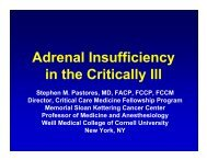 Adrenal Insufficiency in the Critically Ill