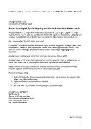 Master i strategisk byplanlægning ved Kunstakademiets Arkitektskole