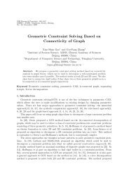 Geometric Constraint Solving Based on Connectivity of Graph