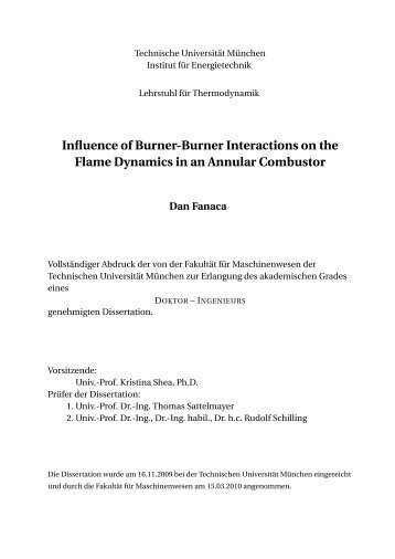 Influence of Burner-Burner Interactions on the Flame Dynamics in an ...
