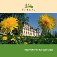 Informationen für Neubürger - Stadt Tettnang