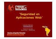 """""""Seguridad en Aplicaciones Web"""" - Cybsec"""