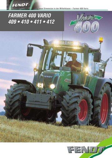 FARMER 400 VARIO 409 • 410 • 411 • 412 - Lectura SPECS