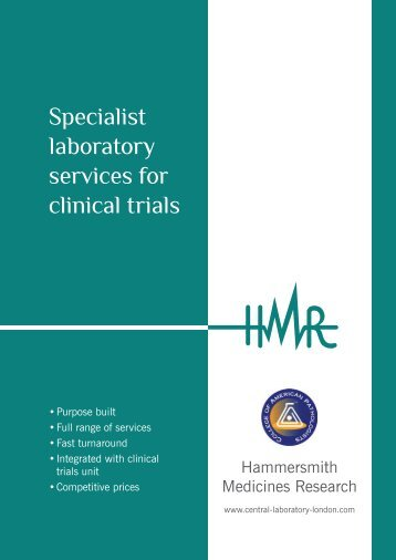 Specialist laboratory services for clinical trials - Central Laboratory ...