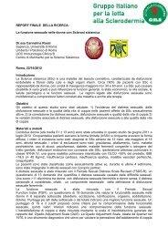 Dott.ssa Rossi Relazione Finale