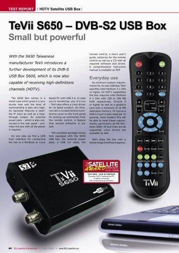 TeVii S650 – DVB-S2 USB Box