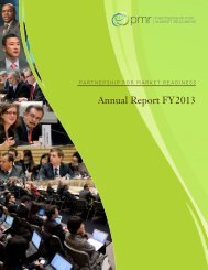 PMR Annual Report FY13 - Partnership for Market Readiness