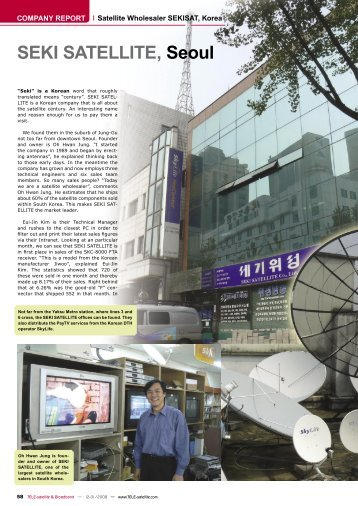 SEKI SATELLITE, Seoul - TELE-satellite International Magazine