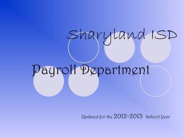 payroll office - Sharyland ISD