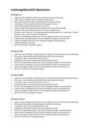 Leistungsübersicht Sponsoren - SVL Lengnau