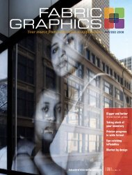 Fabric substrates for digital printing - Fabric Graphics