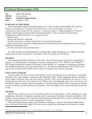 Technical Memorandum (TM)