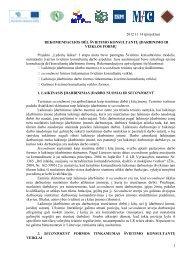 2012 11 14 (projektas) REKOMENDACIJOS DĖL ... - Lyderių laikas