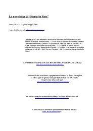 Leggi la newsletter di Storia in Rete n° 4 2003