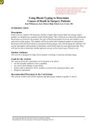 Using Blood-Typing to  Determine Causes of Death ... - Terrific Science
