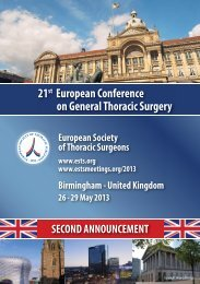 21st European Conference on General Thoracic Surgery - ESTS 2012