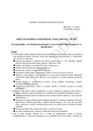 Sdělení Komise Evropskému parlamentu a Rady K ... - edice