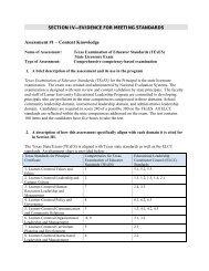 Assessment #1 – Content Knowledge - Lamar University